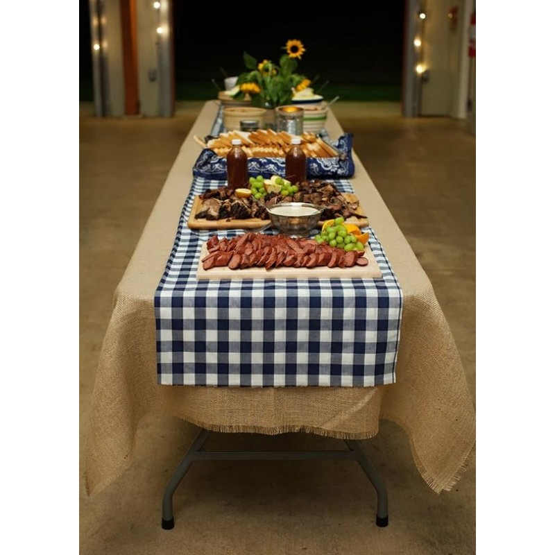 Table Runner Poly Checkered 13 x 72 | Premier Table Linens