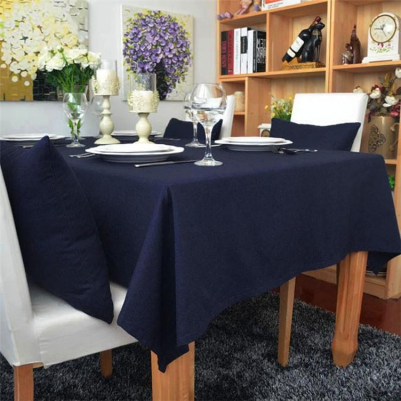 72 X 108 Inch Polyester Cotton Blend Tablecloth Premier