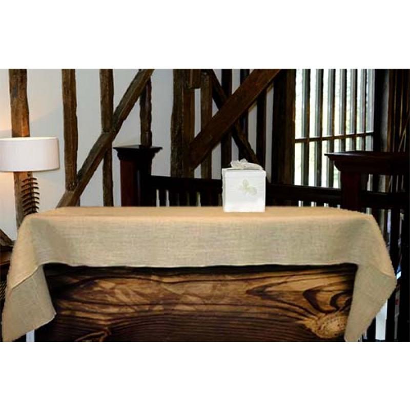 Natural Burlap Tablecloth 60 X 90 Rectangle