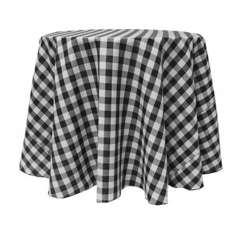... Round Black Tablecloth ...