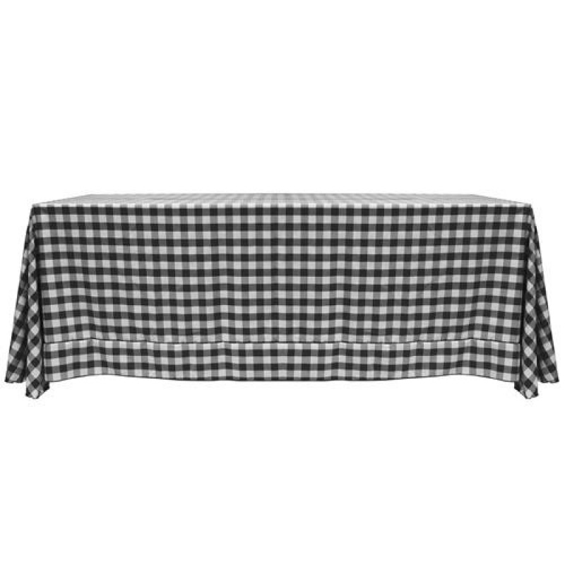 ... Black And White Checkered Tablecloth ...