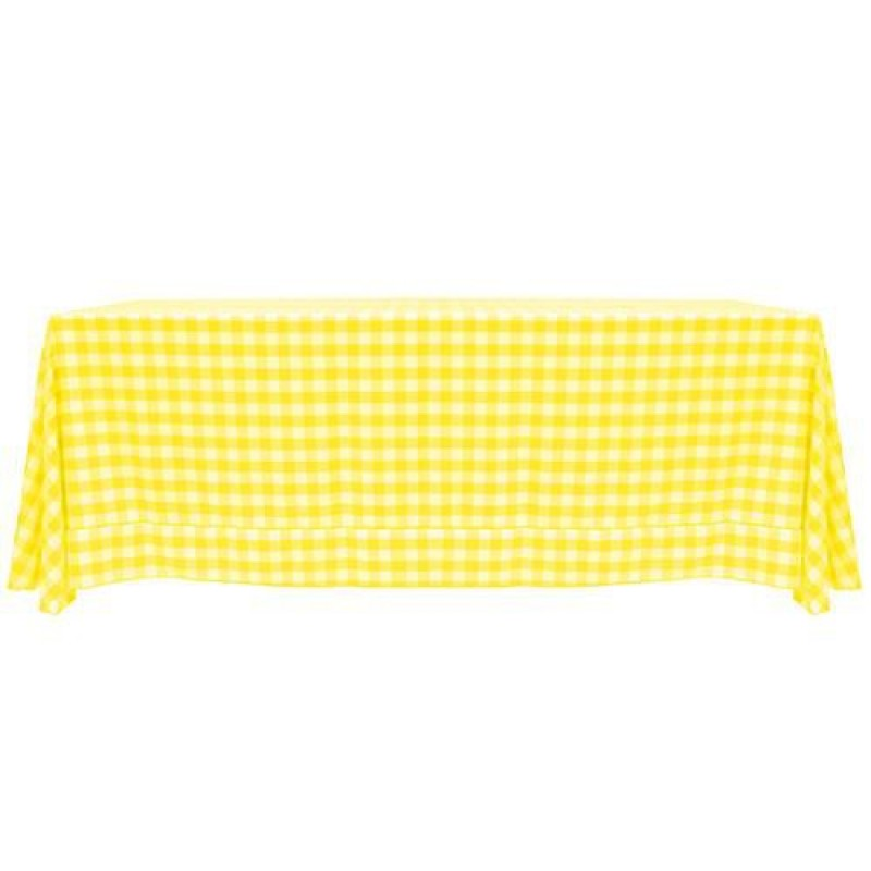 ... Yellow And White Checkered Tablecloth ...