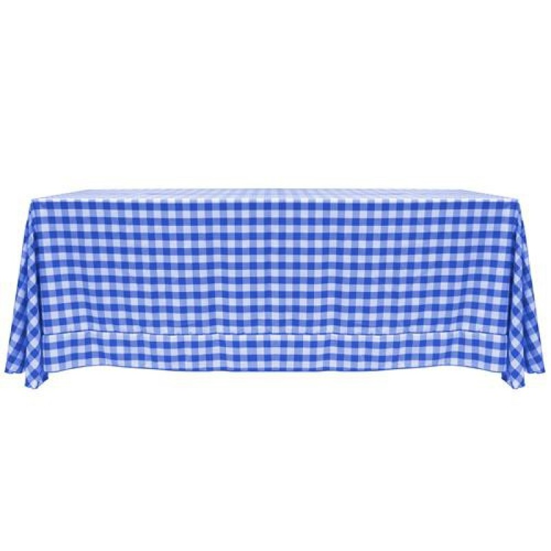 Bon ... Blue And White Checkered Tablecloth ...