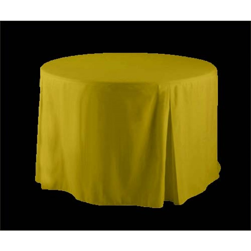 Yellow Polyester 30 Inch Round Ed Tablecloth
