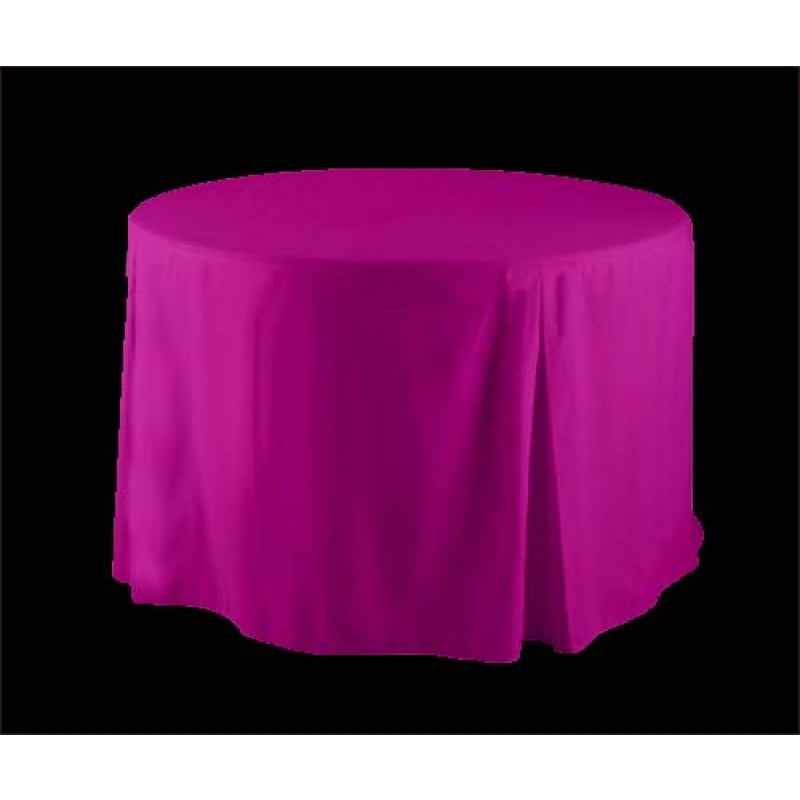 30 Inch Round Polyester Ed Tablecloth In Hot Pink