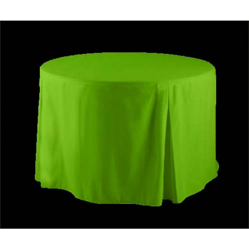 ... Lime Green Round Fitted Tablecloth