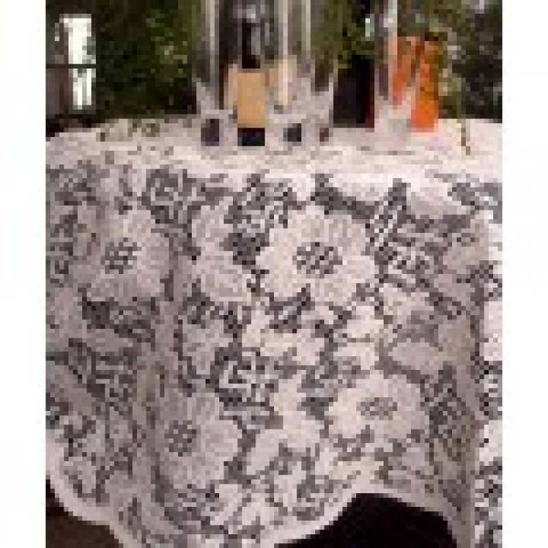 Ivory Lace Table Overlay 60 Inch Round