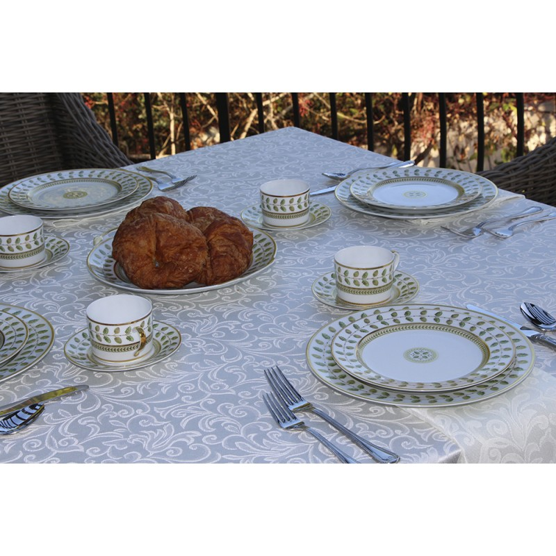 Somerset Damask Ivory Setting ...  sc 1 st  Burlap Tablecloths & 108 X 108 Somerset Tablecloth | Premier Table Linens