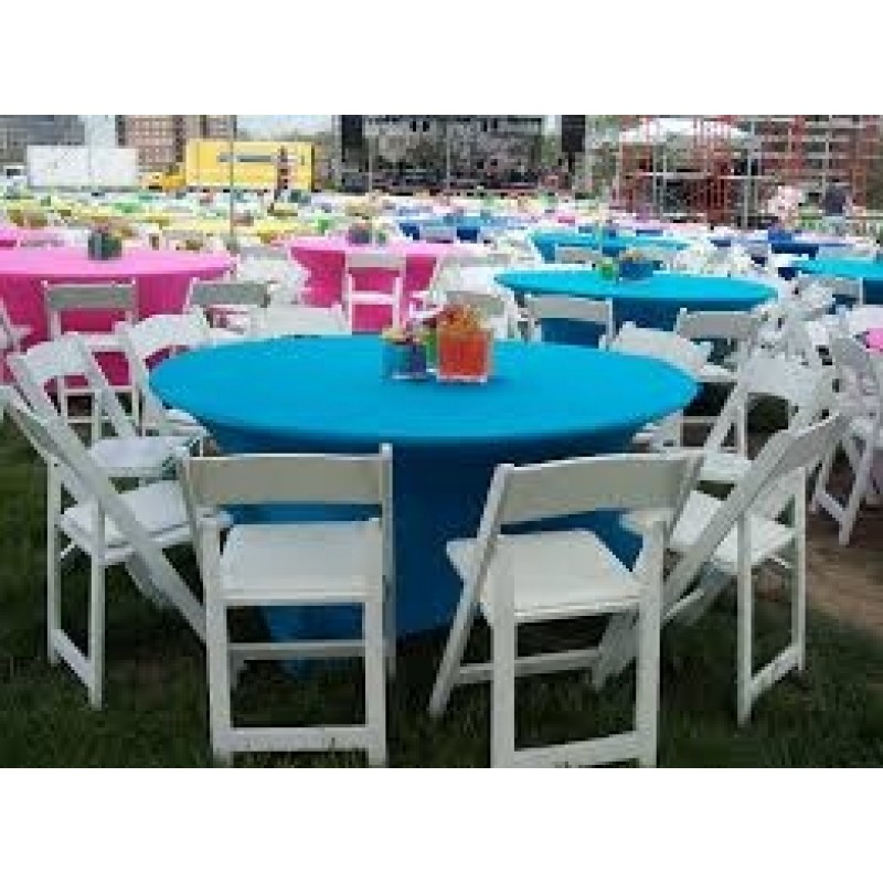 60 And 72 Inch Round Spandex Fitted Table Cloth