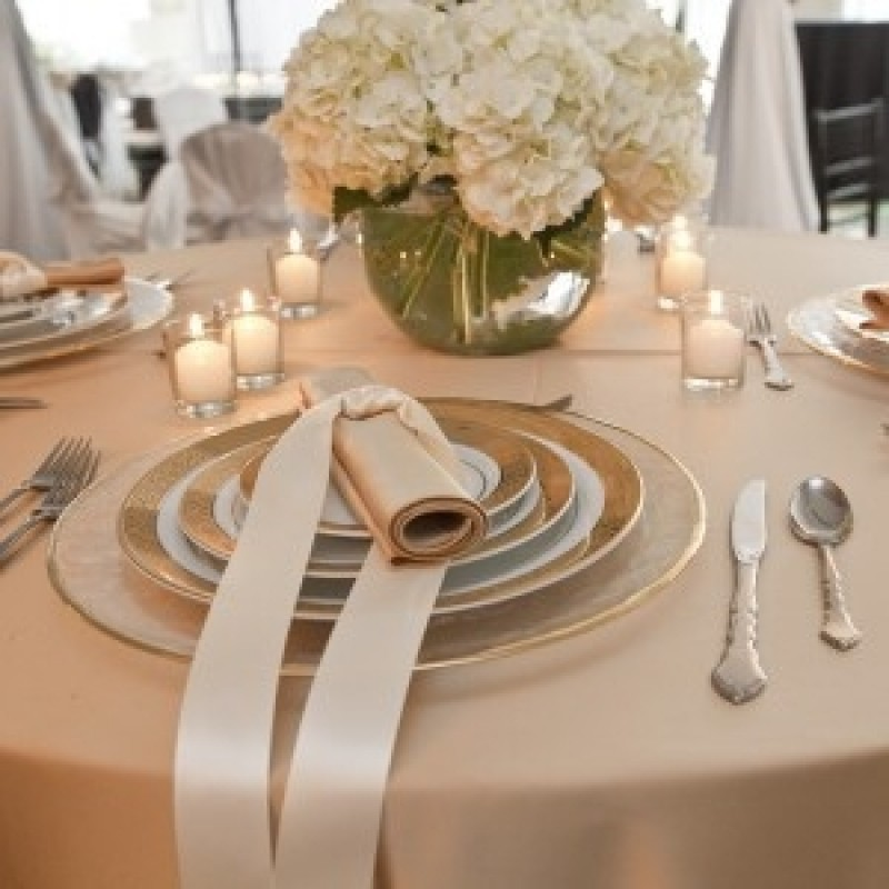 Round Tablecloth Wedding Reception Special Event