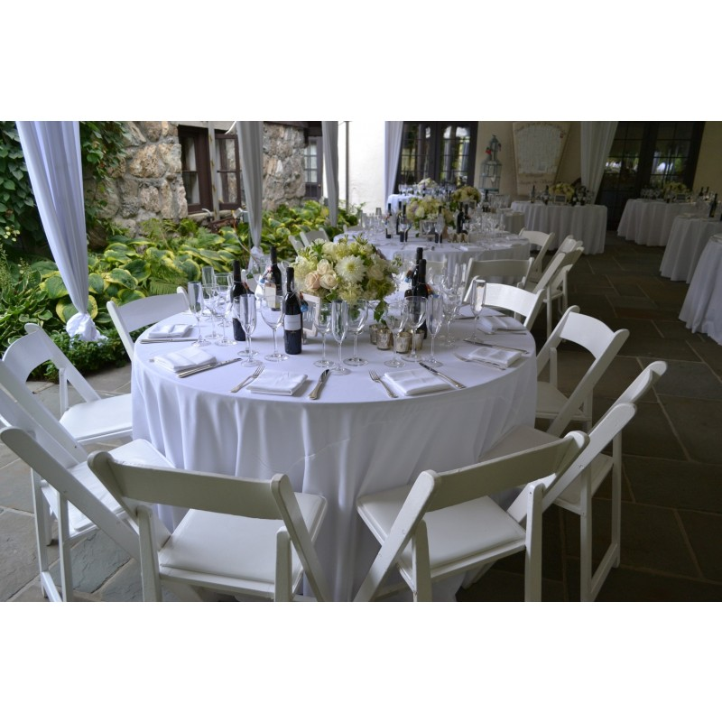 60 Inch Round Spun Polyester Tablecloth