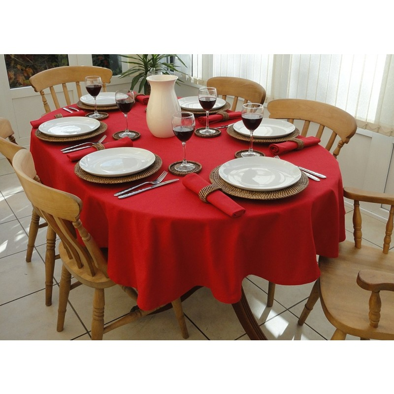 60 x 84 Inch Oval Spun Polyester Tablecloth