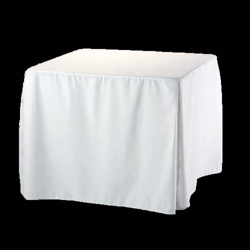 48x48 Inch Square Fitted Polyester Tablecloth Premier