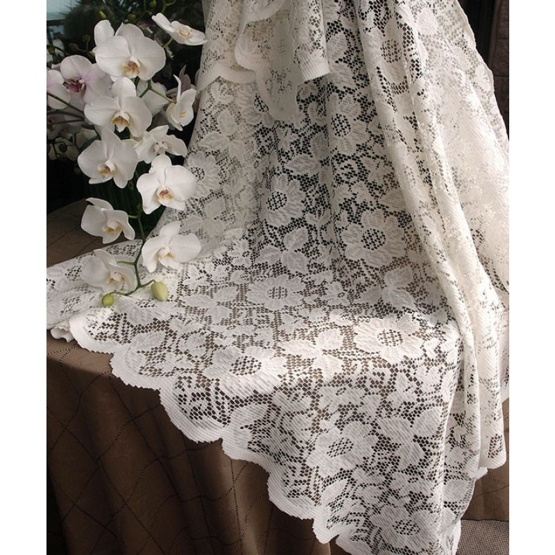 Ivory Lace Table Overlay 54 X 54 Premier Table Linens