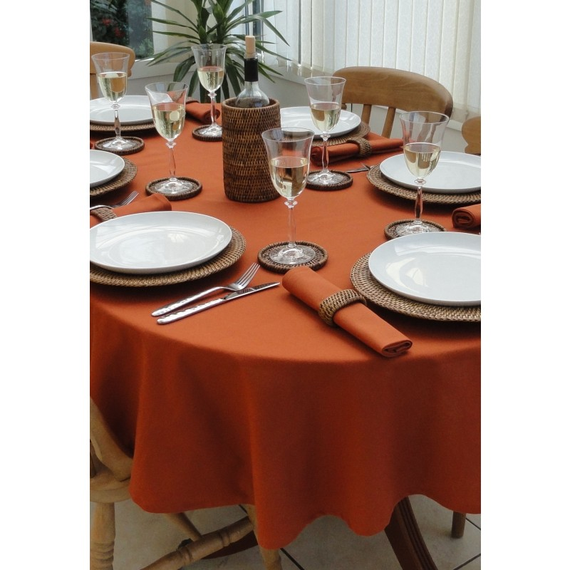 60 X 94 Inch Oval Polyester Tablecloth