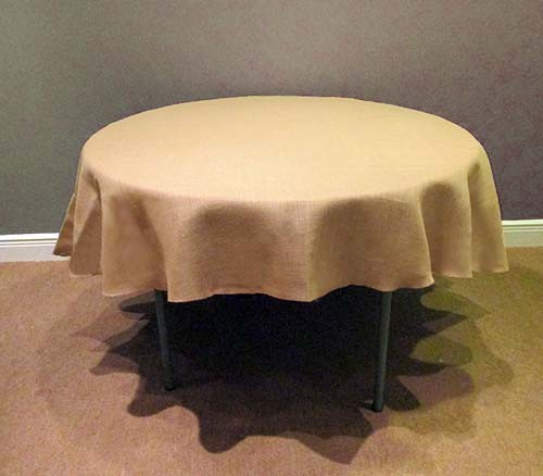 Save On 102 Round Burlap Tablecloth Burlap Boutique
