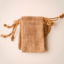 "Burlap Bag With Drawstring 3"" x 5"""