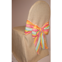 Havana Faux Burlap Banquet Chair Cover