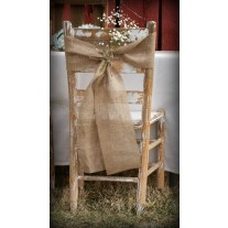 "Jute Burlap Chair Sashes 8"" x 100"""
