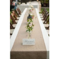 "13"" x 96"" Jute Burlap Table Runner"