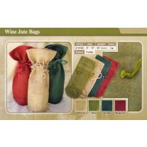 Burlap Wine Bag with drawstrings