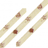 Cotton ribbon Sea Shell Print