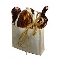 "White Cotton Mini Tote Bag 7"" x 6"" x 2 3/4"""