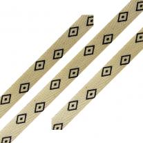 Cotton Ribbon Diamond Print