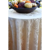"102"" Round Melrose Damask Tablecloth"