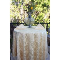 "108"" Round Melrose Damask Tablecloth"