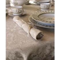 "108"" x 156"" Oval Saxony Damask Tablecloth"