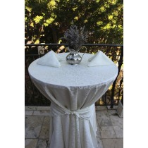 Somerset Damask Round Tablecloth