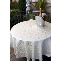 "120"" Round Saxony Damask Tablecloth"