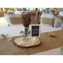 wide burlap table runner