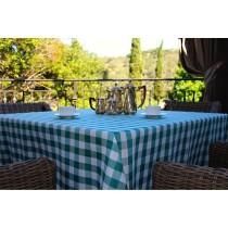 54 x 54 checkered  tablecloth