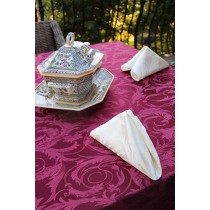 "60"" x 60"" Square Melrose Damask Tablecloth"