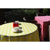 checkered tablecloth events