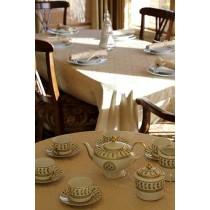 "72"" Round Saxony Damask Tablecloth"