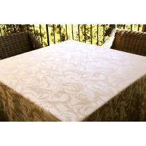 "84"" x 84"" Square Melrose Damask Tablecloth"