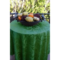 "54"" x 96"" Oval Melrose Damask Tablecloth"