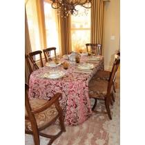 90\  x 132\  Miranda Damask Tablecloth  sc 1 st  Burlap Tablecloths & Miranda Damask - Table Linens \u0026 Overlays
