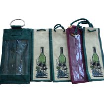 Burlap Wine Bags set of 5 with ropes