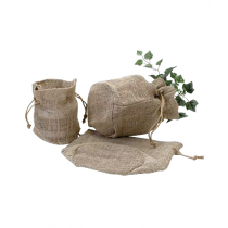 Burlap Plant bag natural 7.5 x 6 x 4
