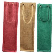 Burlap Jute wine bags with rope handles