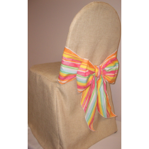 Burlap banquet chair covers