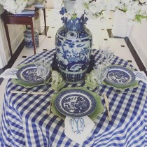 """108"""" Round Checkered Tablecloth"""