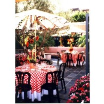"""90"""" Round Checkered Tablecloth"""