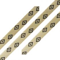 Cotton Ribbon Diamond Print 3/8 inch wide
