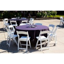 Havana Collection Purple Round Tablecloth