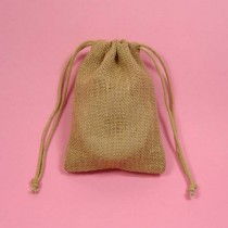 5 x 7 Burlap Bag with drawstrings